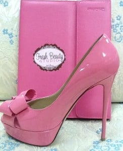 The Perfect Pink Bridal Shoe