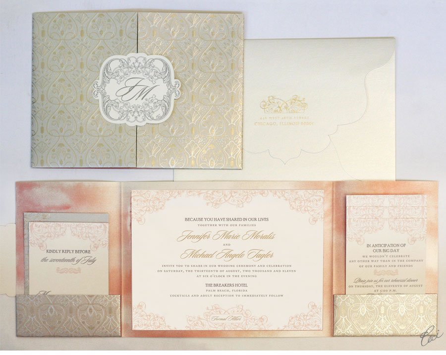 Wedding Invitation Kits Michaels: Palm Beach Seaside Wedding By Beauty Expert Nikol Johnson