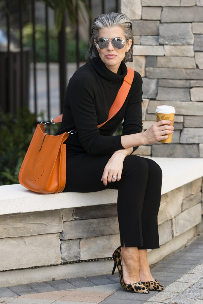 Black on Black With Hermes Evelyn Crossbody Bag